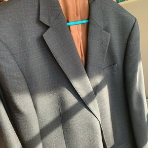 Jos A Bank 44 long silk and wool blazer